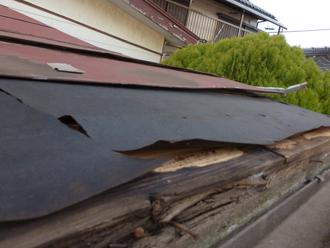 屋根内部の腐食