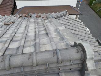 桟瓦が捲れてしまうと落下の危険性があり二次被害に繋がります