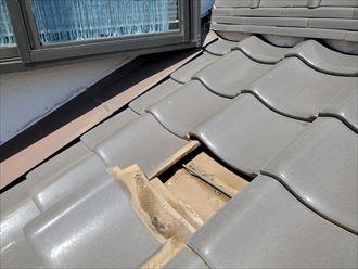 防水紙の捲れは雨漏りに繋がります