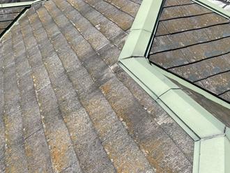 スレート屋根の調査、築15年