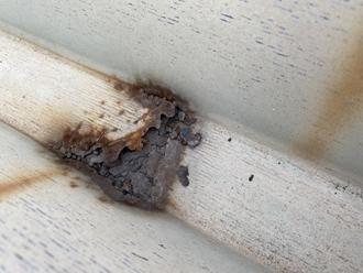折半屋根の腐食、穴あき
