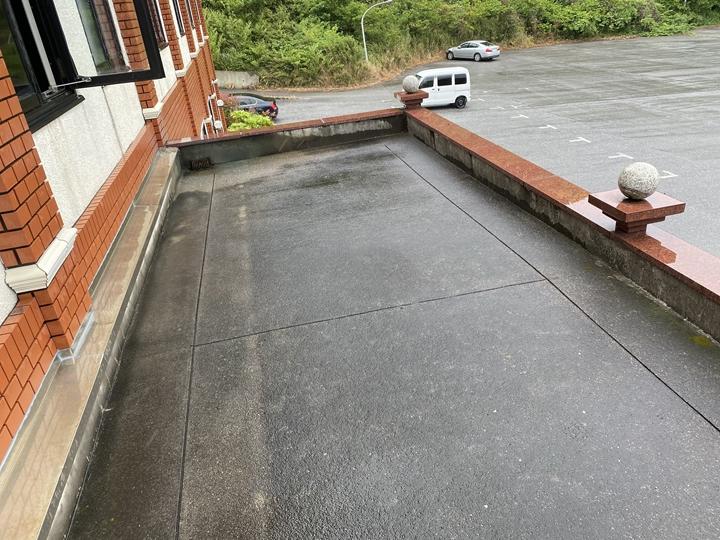 陸屋根、保護モルタル