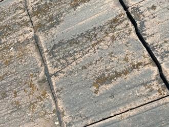 スレート屋根のヒビ割れ発生