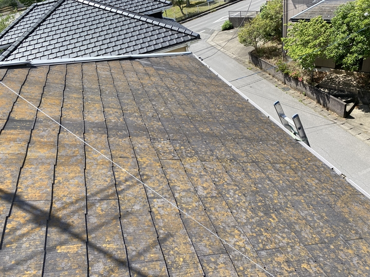 スレート屋根の調査を行いました。