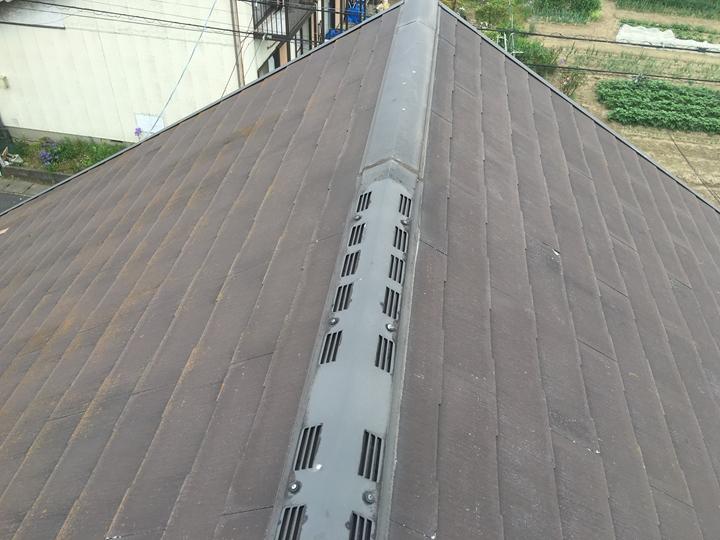 スレート屋根の調査、塗装出来ません