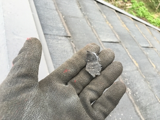 パミール屋根捲れ、塗装工事出来ません