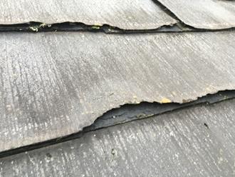 パミール屋根、捲れ