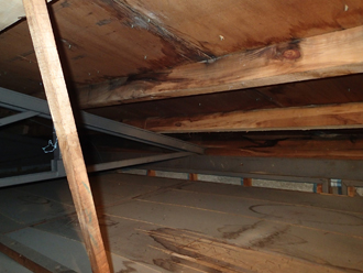 屋根裏の腐食