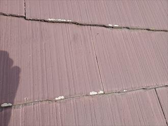 スレートの素地が露出すると防水性を失います