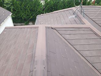 鎌ケ谷市東初富にてコロニアル屋根調査を行いひび割れを発見
