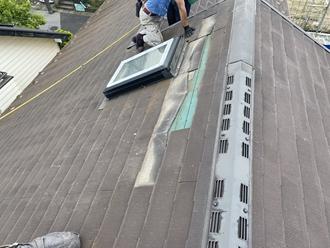 スレート屋根剝がし