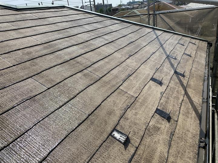 屋根壁、高圧洗浄完了