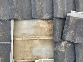 防水紙の経年劣化、屋根葺き替え工事