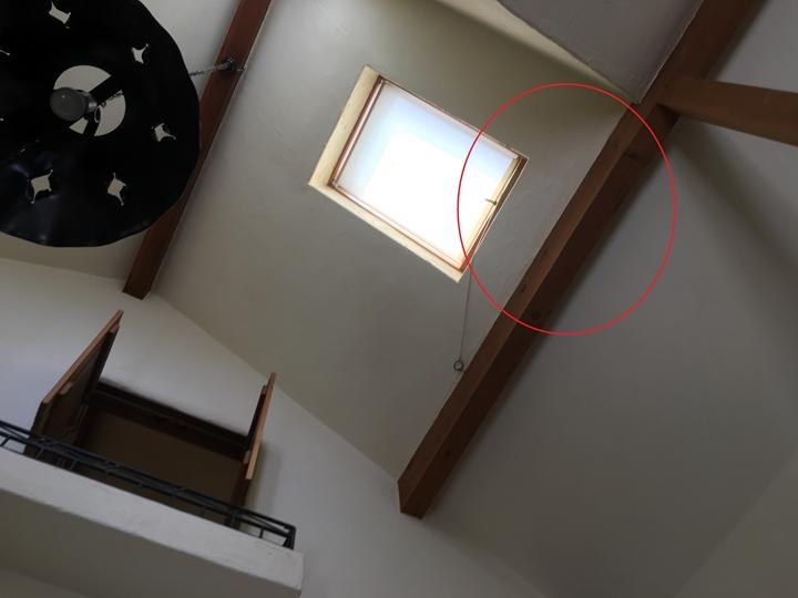 室内の雨漏り箇所を確認