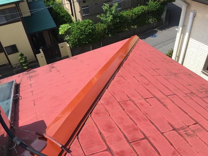 棟板金の取り付け、塗装工事