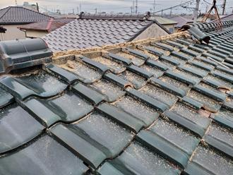 台風15号によって崩壊した棟