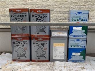 外壁塗装工事の下塗りにはパーフェクトサーフを使用