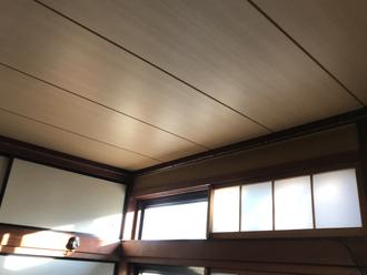 室内の天井張替え工事後