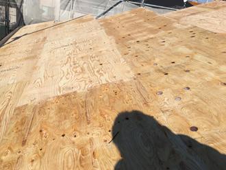野地板貼り