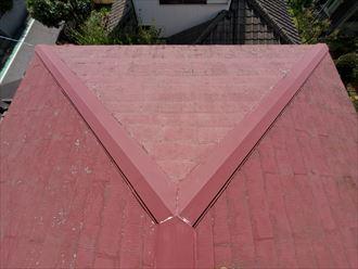 スレート屋根調査の様子