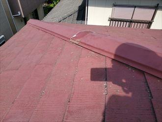 令和元年房総半島台風の影響で棟板金が破損