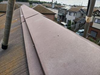 棟板金の釘浮きは飛散に繋がります