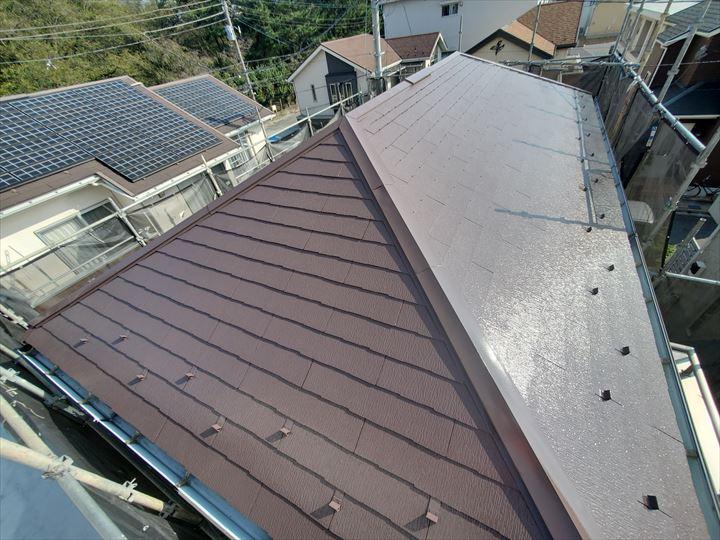 サーモアイ4Fを使用した屋根塗装工事完了