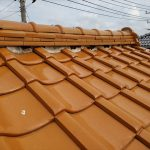 八千代市大和田にて棟の漆喰が剥がれた瓦屋根調査