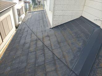 下屋根は日照時間が短く陽当たりが悪いので苔・藻・カビが発生しやすくなります