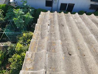千葉市美浜区にてセメント瓦の袖瓦が令和元年房総半島台風の被害を受けてずれてしまいました