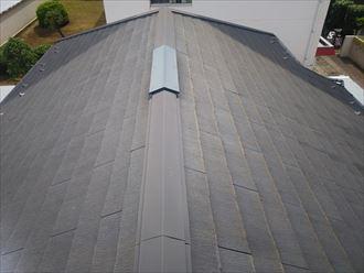 船橋市習志野台にて塗膜が劣化したスレート屋根の調査