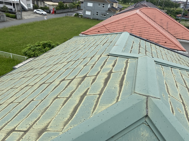 コロニアル屋根の調査を行いました