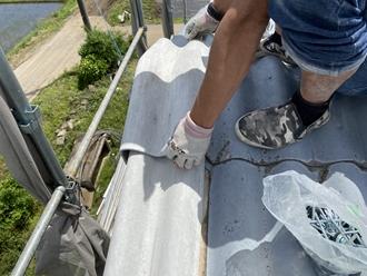 棟部取り付け作業