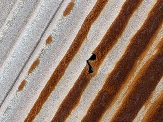 トタン屋根の穴あき、雨漏りの可能性