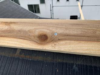 ビスを使用した貫板の設置