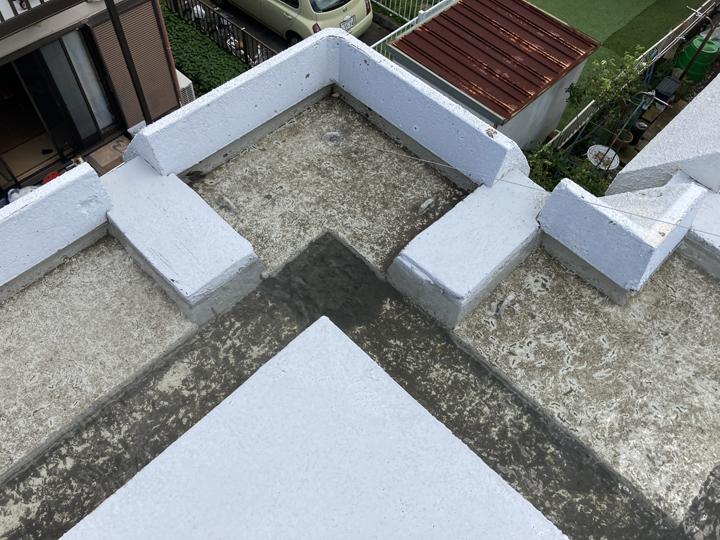 屋上排水の詰まり