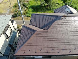 屋根工事ドローン撮影
