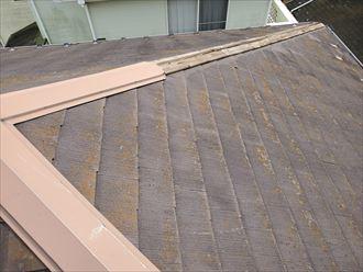 令和元年房総半島台風の影響により隅棟の棟板金が飛散