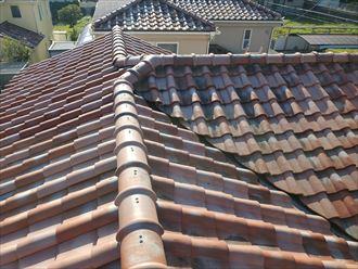 香取郡神崎町にて令和元年房総半島台風の被害を受けた瓦屋根調査