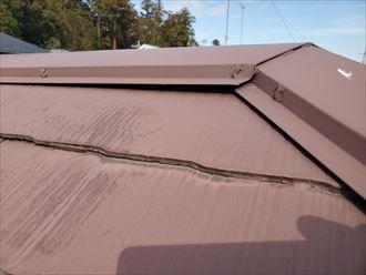 令和元年房総半島台風の影響で歪んでしまった棟板金