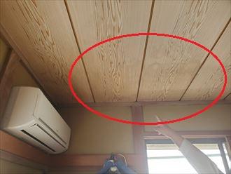 雨漏りで天井に雨染み