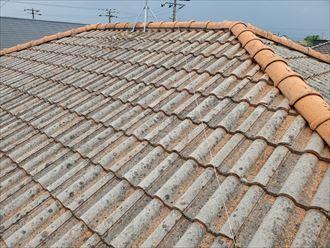 鎌ケ谷市鎌ケ谷にて瓦屋根の調査を行いました
