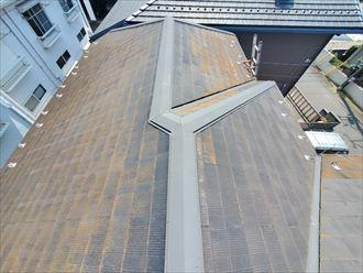 苔・藻・カビが発生しているスレート屋根の調査