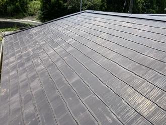 スレート屋根、色あせ
