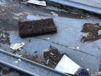 瓦棒屋根、ケレン作業