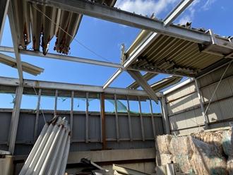 折半屋根の調査、捲れ