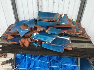 瓦屋根の飛散、台風被害