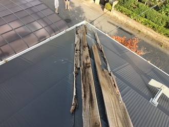 棟板金、貫板の腐食