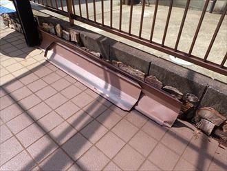 令和元年房総半島台風の影響で落下した棟板金