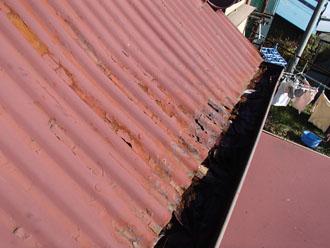 金属屋根(トタン屋根) 錆び